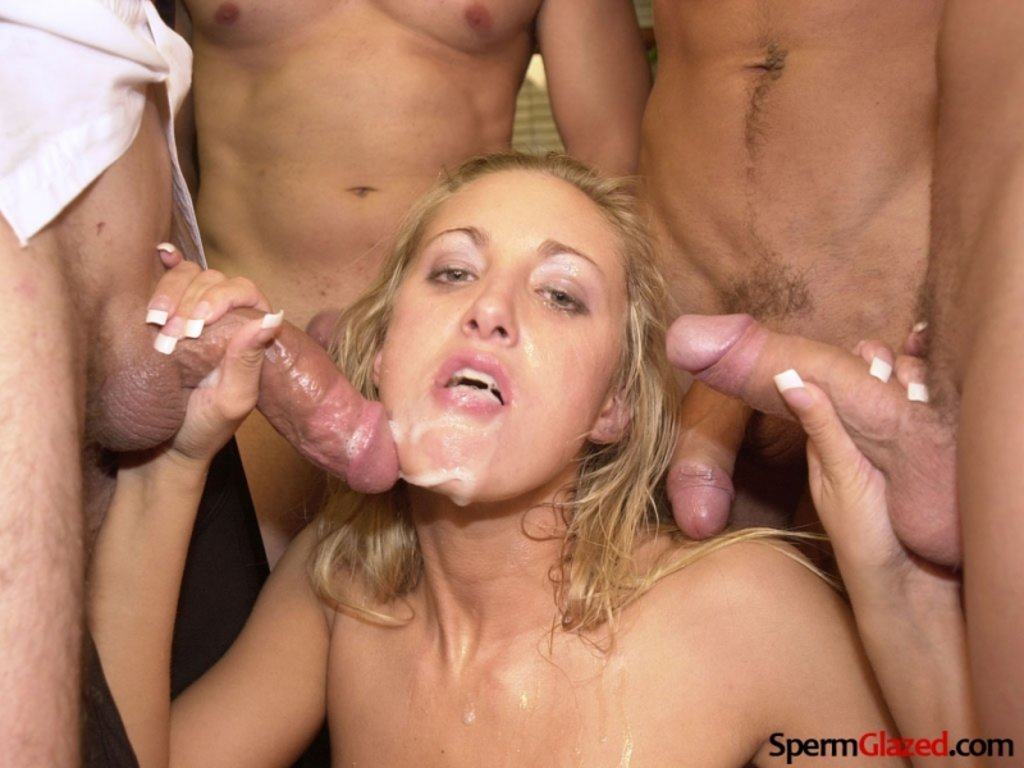 Long blowjob multiple cum