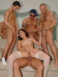 Gangbang action pics with Selena Silver and many big cocks