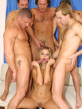 Gang banged blond in action from these hot pics