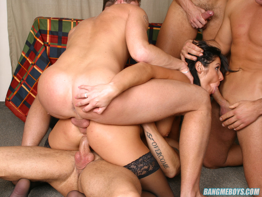 Free gang bang action