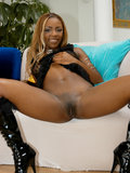 Ebony Babe Fucks Two Chocolate Cocks In This Photo Set