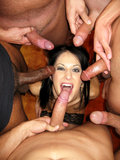 Dark Haired Babe Chelsie Rae Gets Bukkake Facialized By Multiple Cocks In This Photo Set