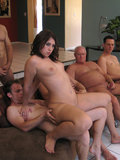 Victoria Raven is cravin some cum and all the boys came in to get it all done
