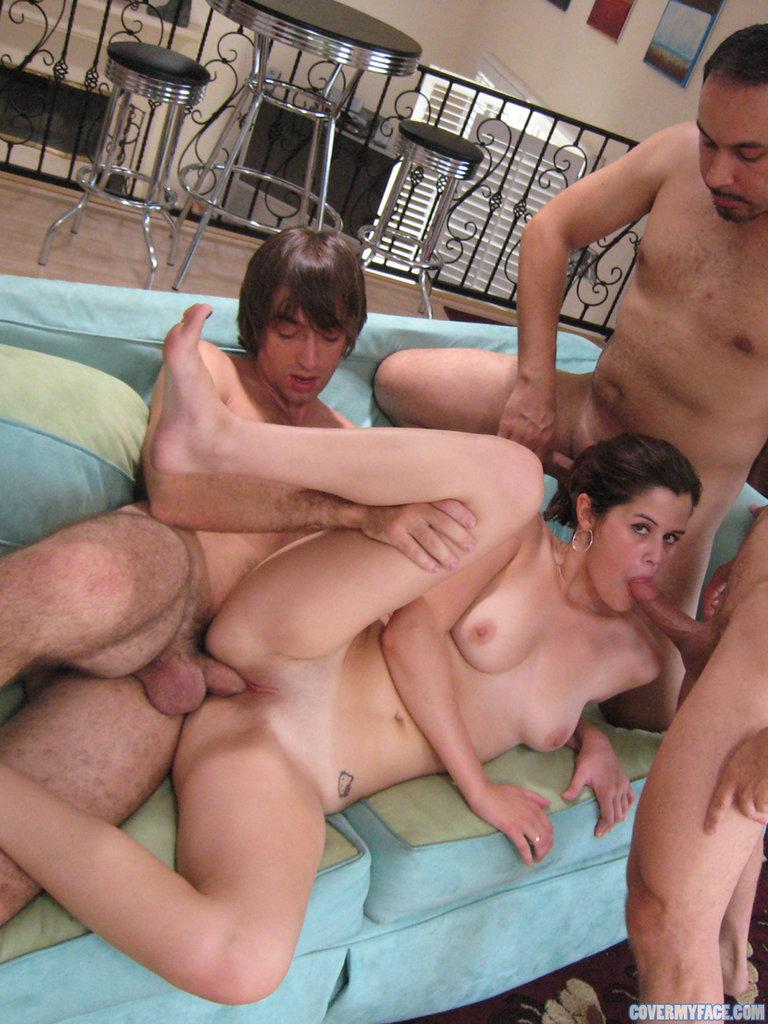 6 парней трахают одну проститутку