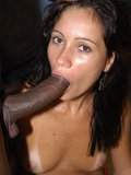 Latin babe Veronica Wesley sucks a hard cock before taking it up the ass