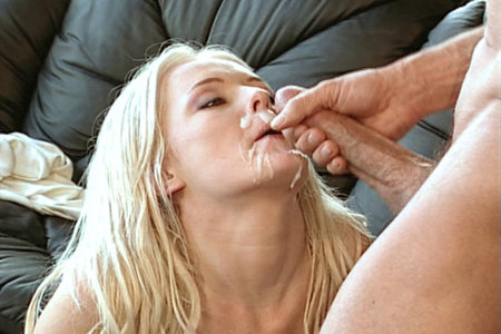 Raunchy hardcore blonde fucking and sucking with passion