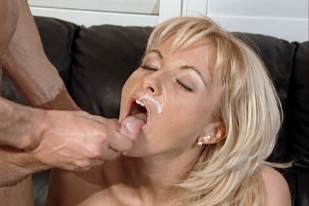 Amazing blonde pornstar Judith giving head to Peter North