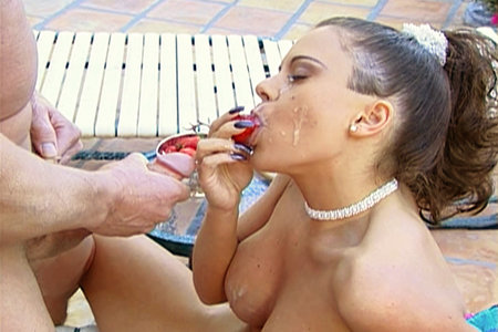 Pony-tailed brunette pornstar Jewel DeNyle fucking hard