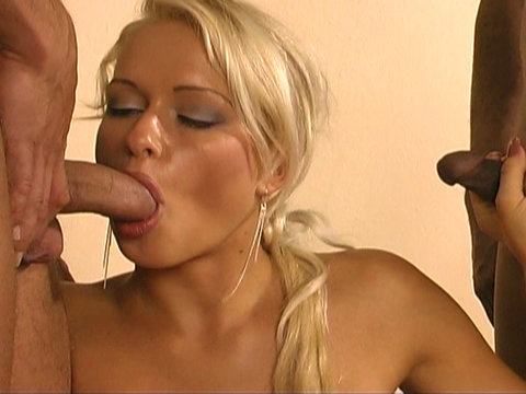 5 Free Lesbian Anal Orgy   Cock sucking fun with Stacy Silver in this hot threesome Clothed Female Nude Male Adventures