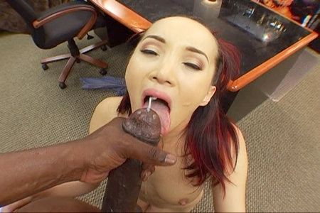 Awesome interracial facial clip with black Lexington Steele from Lex Steele