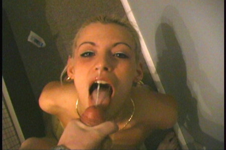 Sweet Amylee sucks BrunoBs cock before getting a load of cum shot on her face