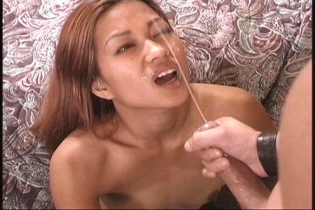 Luscious Asian pornstar sucking a dick and having hot sex