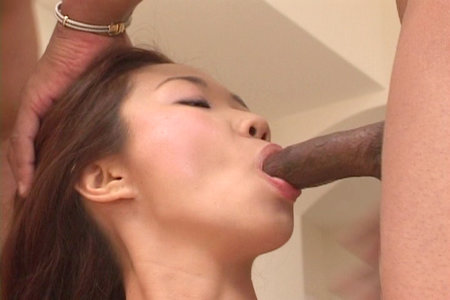 Petite Asian girl Heidi Ho sucks and gets fucked by two guys from Fuck That Asian