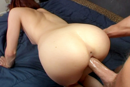 Wild redhead pornstar gets fucked after giving a blowjob
