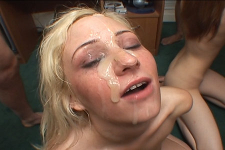 Hillary Scott and her friend in group cumshot action