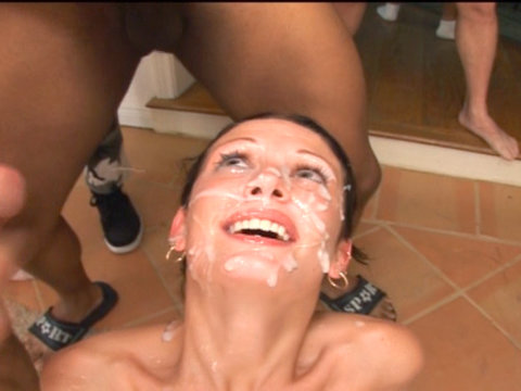 Slut blowing guys