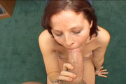 Cute college girl Nicole sucking a cock and swallowing cum from Load My Mouth