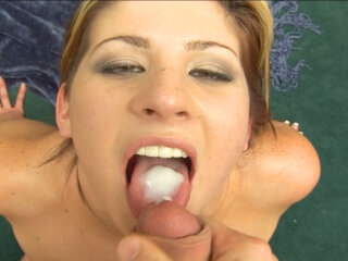 Horny babe sucking - Horny babe Lisa Marie sucking and screwing hard doggystyle