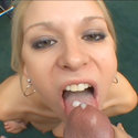 Blowjob-giving blonde