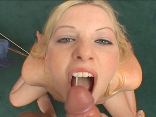 Young blonde sucking - Young blonde Tricia Oaks sucking a massive dick on camera