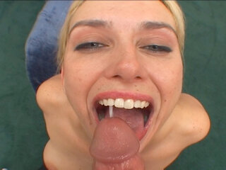 Amateur blonde sucking - Amateur blonde Malory Knoxxx sucks and swallows cum on film