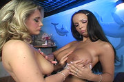 Two horny lesbians Diana Lion and Laura Lion having wild sex from Flirty Pussy