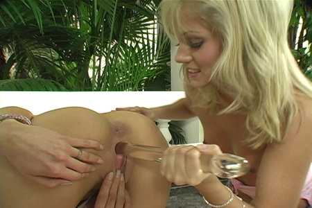 Two blonde lesbians Jane Darling and Sarah Blue having sex