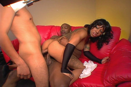 Hardcore double-penetration action with a sexy ebony bitch from Hardcore ...