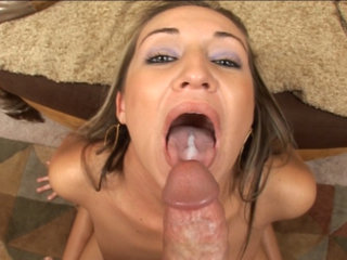 Amateur blond stunner - Amateur blond stunner swallows load in this awesome vid