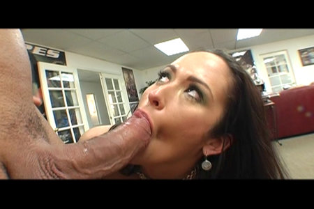 Carmella Bing having huge and stiff cock for lunch from Lex Steele