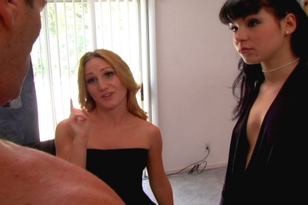Two cock-hungry pornstars Gen Padova and Shayna Knight fuck from Hostile Fucking