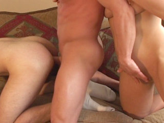 Bisexual Porn : Nice going both ways action with 2 dudes and women on bisex101!