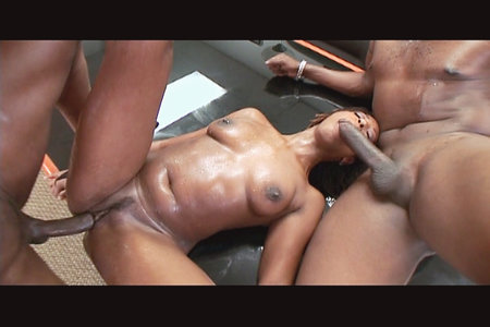 Lexington Steele and Jean Baptiste double team Eve Mayfair from Black Reign X