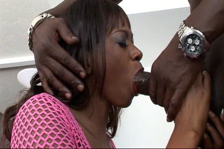 Lexington Steele enjoys hard sex action with ebony babe