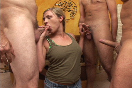 Blonde Trisha Markx make pricks disappear in her mouth from Cover My Face
