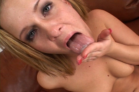 Cream pie action with Sasha Knox in this deep in cream series