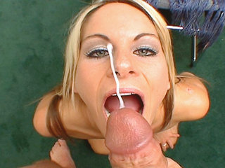 Blonde and cock - Courtney Simpson always finds large cock to play with