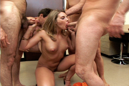 Busty Brianna Love totally busted by five evil perverts from Cover My Face