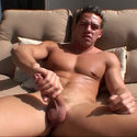Johnny Castle gay masturbation video from Handy Studs