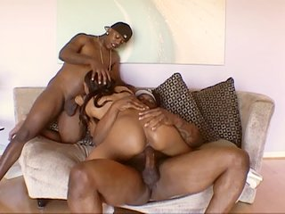 Evil Lexington Steele destroyed young and tasty ebony cunt