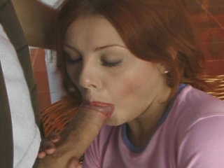 Adult Videos : Hot redhead gets pussy nailed by thick meat bone!