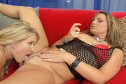 Hardcore pornstar threesome pics with Flower Tucci and Sasha from Swallow Squirt
