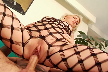 Blonde pornstar Missy Monroe in a reverse cowgirl position from Swallow ...