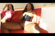 Wild ethnic threesome with Lexington Steele from Black Reign X
