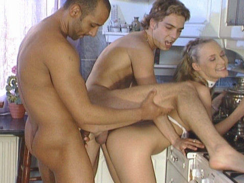 gay threesome rough sex