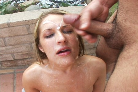 Blonde pornstar blows in a gangbang from Sperm Cocktail