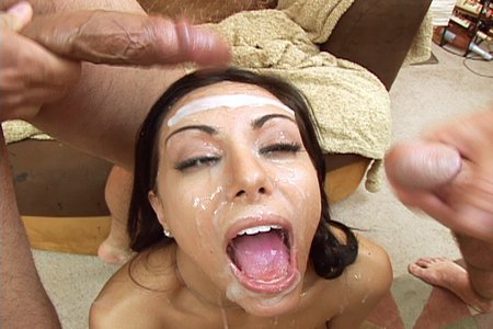 Lela Star got her cute face capped with cum load from Cover My Face