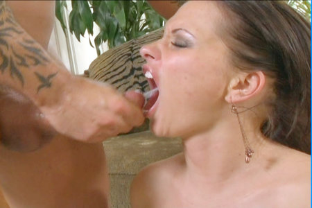 Raunchy brunette sucks and fucks anally before a nice facial from Pornstars Analyzed