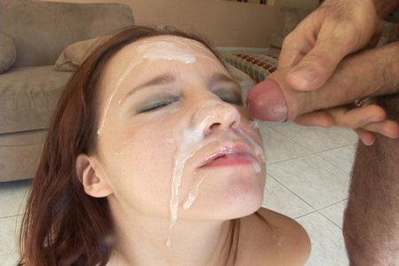 Belle Bond got huge facial shots from older maniacs