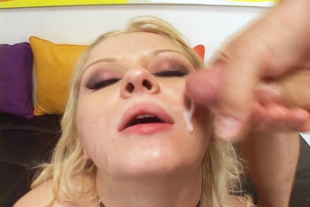 Blond babe gets a hardcore gang bang